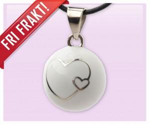 Gravidsmycke vit heart